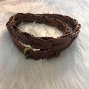 RALPH LAUREN- Cognac Leather Belt